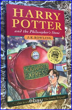 1997 First UK Pb Edition Harry Potter &the Philosopher/Sorcerer's Stone &Extras