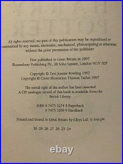 1st Edition, Very Early & 1st Print U. K. Bloomsbury Harry Potter Set, Rowling HC