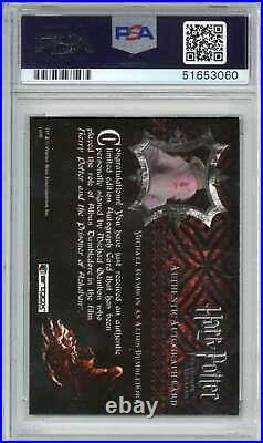 2004 Artbox Harry Potter Prisoner of Azkaban Michael Gambon PSA 10 Auto