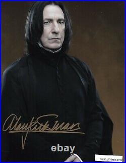 ALAN RICKMAN SEVERUS SNAPE In Harry Potter Hand signed 8x10 Colour photo COA B