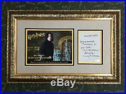 Alan Rickman Hand Written Signed Letter Harry Potter Custom Framed FREE SHIP JSA