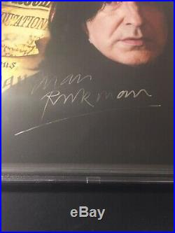 Alan Rickman Signed 8x10 Severus Snape Harry Potter BAS 12231687 RARE! AUTO