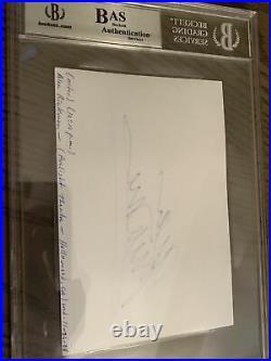 Alan Rickman signed Harry Potter Cut Index Card autograph Severus Snape Beckett