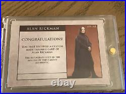 Alan Rickman signed Harry Potter Cut card auto autograph Severus Snape