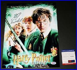 DANIEL RADCLIFFE SIGNED HARRY POTTER Chamber of Secrets 11X14 Poster PSA