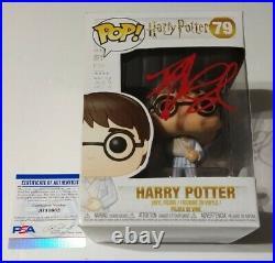 Daniel Radcliffe HARRY POTTER Movie Signed Autographed FUNKO POP #79 PSA