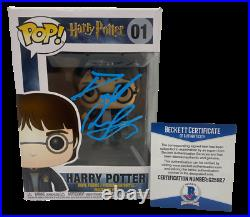 Daniel Radcliffe Harry Potter Pop Funko Figure Authentic Autograph Beckett Coa E