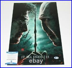 Daniel Radcliffe Signed Harry Potter Deathly Hallows Movie Poster Beckett Coa