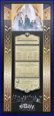 Fantastic Beasts original framed prop'Notice of Contravention' + provenance