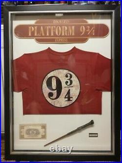 Framed Harry Potter original Warner Brothers memorabilia. Size 930 x 700mm