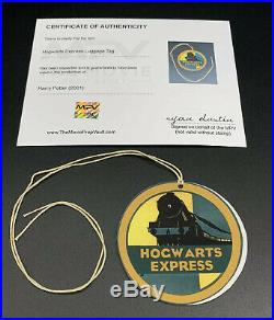 Harry Potter 2001 Screen Used Prop Hogwarts Express Luggage Tag With COA
