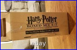 Harry Potter Hard Cover Boxed Set Books 1-7 Trunk Box 10/16/07 Original Borders