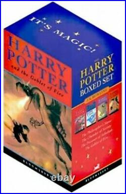 Harry Potter Paperback Box Set Four Volumes by Rowling, J. K. 0747557012 The