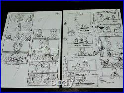 Harry Potter Production Used Storyboard Lot Of 2 Great Scenes Original Movie