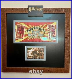 Harry Potter Screen Used Movie Prop Weasleys Wizard Wheezes Box Label Framed
