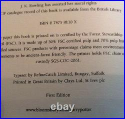 Harry Potter and Half Blood-Prince RARE OWL's Misprint on Page 99