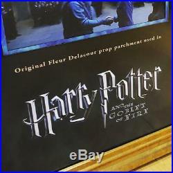 Harry Potter and the Goblet of Fire Original PROP Fleur Delacour Parchment