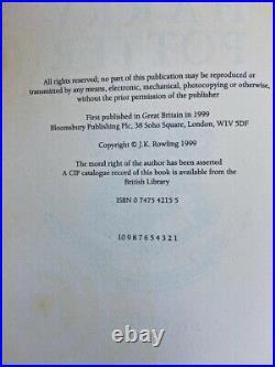 Harry Potter and the Prisoner of Azkaban. UK 1/1. 1st Edition, 1st Print. HC DJ