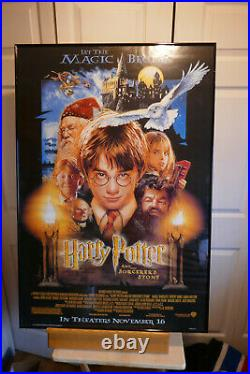 Harry Potter and the Sorcerer's Stone Movie Poster Made in USA 2001 Rare
