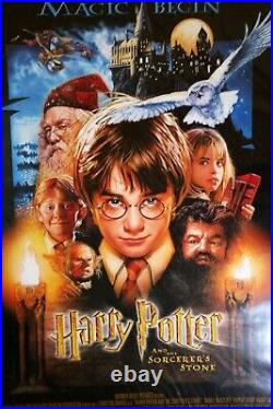 Harry Potter and the Sorcerer's Stone Original Rolled D/S 27x40 Movie Poster