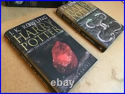 Harry Potter book set x 7 (original adult first edition) JK Rowling