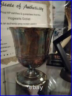 Harry Potter original movie prop great hall Hogwarts Goblet screen used w. COA