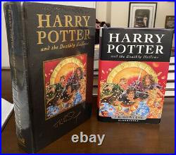 JK Rowling HARRY POTTER & The Deathly Hallows UK Deluxe 1ST SEALED With Trade 1st