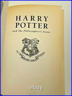 JK Rowling Harry Potter and the Philosopher's Stone TRUE FIRST EDITION (1st/3rd)