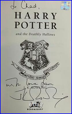 J K Rowling / HARRY POTTER AND THE DEATHLY HALLOWS Signed 1st Edition 2007