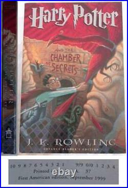 J K Rowling / Harry Potter and the Chamber of Secrets First Edition 1999 #005264
