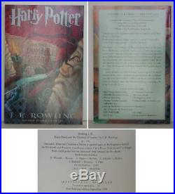 J K Rowling / Harry Potter and the Chamber of Secrets Uncorrected #0105305