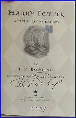 J K Rowling / Harry Potter and the Deathly Hallows Book 7 Signed 1st #1906018