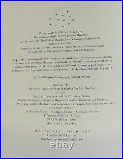 J K Rowling / Harry Potter and the Prisoner of Azkaban Signed 1st #2005301