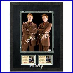 James & Oliver Phelps Autographed Harry Potter Weasley Brother 8×10 Framed Photo