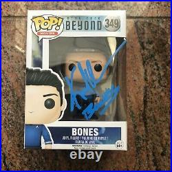 Karl Urban Star Trek Beyond Bones 349 Funko Pop Autograph Signed Beckett BAS COA