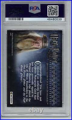 Michael Gambon Auto 2009 Artbox Harry Potter Half Blood Prince PSA 10