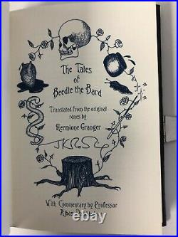 Mint TALES OF BEEDLE THE BARD Leather Bound COLLECTORS Edition Book J K Rowling