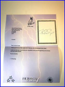 ROWLING J K. / HARRY POTTER AND THE PRISONER OF AZKABAN Prize Copy Signed 1st ed