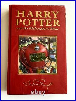 Rowling Harry Potter Philosopher's Stone Deluxe 1st Edition 1st Print IN PLASTIC