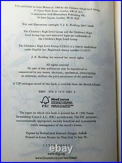 SIGNED by J. K. ROWLING, The Tales of Beedle the Bard 2008 UK 1st Printing