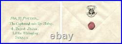 Screen Used Prop Harry Potter & Philosophers Stone Hogwarts Flying Invitation