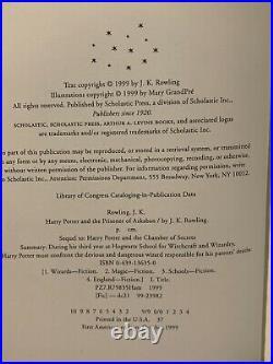 Signed 1st Edition 2nd Print U. S. Harry Potter and the Prisoner of Azkaban HC