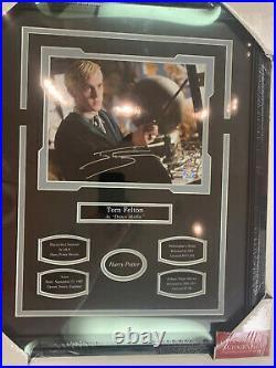 Tom Felton Draco Malfoy Harry Potter Autograph 8x10 Photo 16x20 Frame